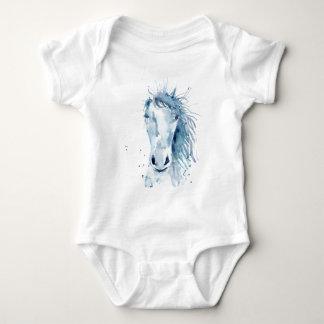 Body Para Bebê Retrato do cavalo da aguarela