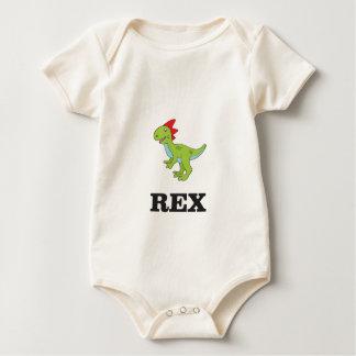 Body Para Bebê rex Dino do divertimento