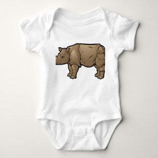 Body Para Bebê Rinoceronte de Sumatran