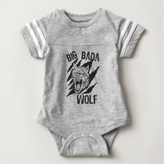 Body Para Bebê Riscos grandes da pata do lobo de Bada
