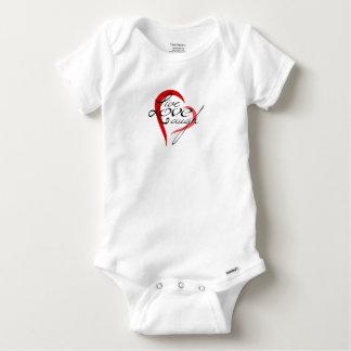 Body Para Bebê Riso vivo do amor - Bodysuit do algodão do bebê
