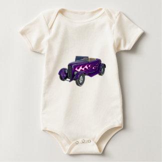 Body Para Bebê Roadster de 1932 roxos com chama