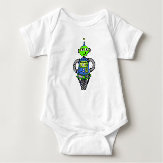 Body Para Bebê Robô, azul e verde de Arnie