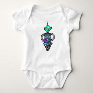 Body Para Bebê Robô, roxo e verde de Arnie