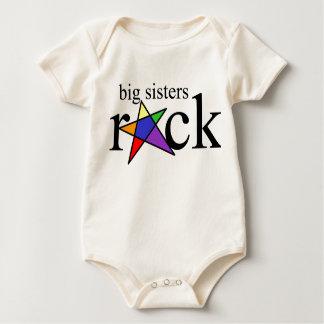 Body Para Bebê Rocha das irmãs mais velha