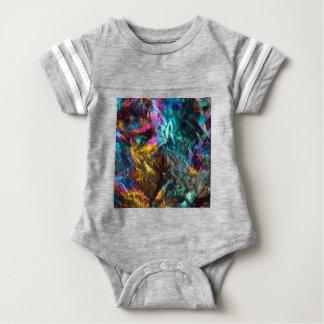 Body Para Bebê Rocha de cristal lisa do óleo do arco-íris