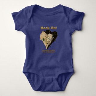 Body Para Bebê ROCHA SOBRE! A caminhada do amor protege nossos
