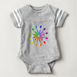 Body Para Bebê Roda de cor da escova de pintura, teoria da cor do