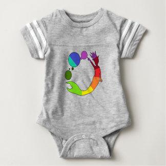Body Para Bebê Roda de cor da sereia