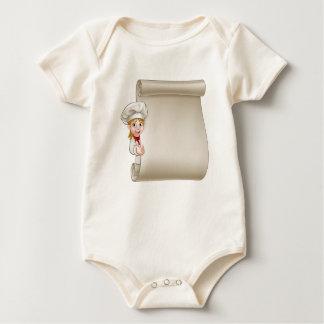 Body Para Bebê Rolo do menu do cozinheiro chefe da mulher dos