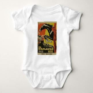 Body Para Bebê Romance do vintage do viagem de Nova Zelândia do