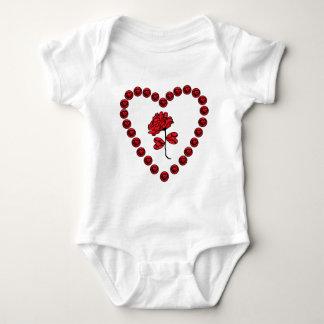 Body Para Bebê romântico aumentou