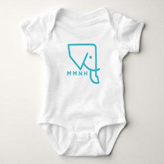 Body Para Bebê Romper azul do bebê do elefante de MMNH
