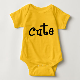 Body Para Bebê Romper bonito amarelo do bebê