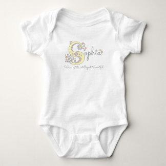 Body Para Bebê Romper conhecido do monograma do significado das