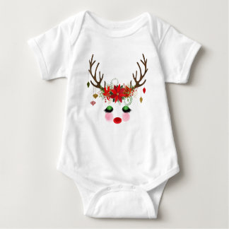 Body Para Bebê Romper da rena do Natal