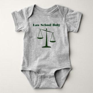 Body Para Bebê Romper do bebê da escola de direito (tinta verde)