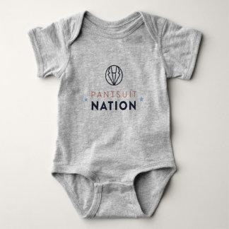 Body Para Bebê Romper do bebê da nação do Pantsuit, cinza da urze