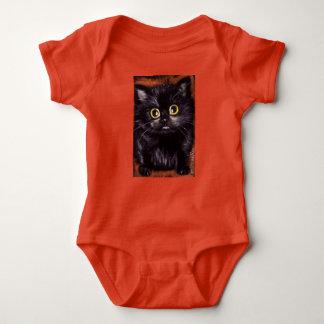 Body Para Bebê Romper do bebê do gato de Dracula Scaredy do gato