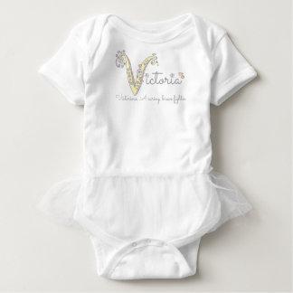 Body Para Bebê Romper do bebê do nome e do significado do