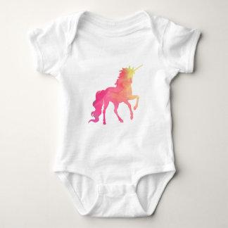 Body Para Bebê Romper do bebê do unicórnio da aguarela