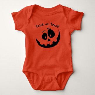 Body Para Bebê Romper feliz da vaia da abóbora do Dia das Bruxas
