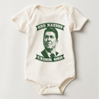 Body Para Bebê Ronald Reagan uma nação sob o deus