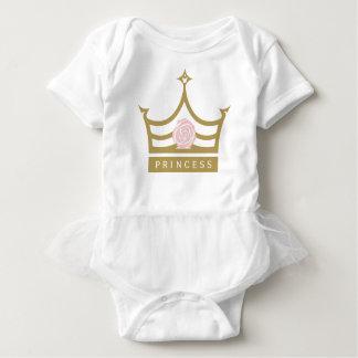 Body Para Bebê Rosa chique do rosa de bebê e princesa Coroa do