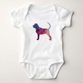Body Para Bebê Rosa colorido da silhueta do teste padrão de Geo