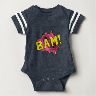 Body Para Bebê Rosa cómico do BAM do presente do bebê do bodysuit