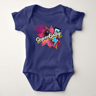Body Para Bebê ROSA cómico do presente do bodysuit do super-herói