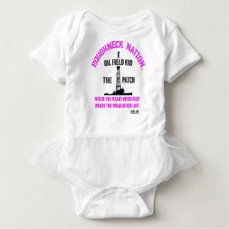 Body Para Bebê Rosa das meninas do MIÚDO do CAMPO PETROLÍFERO