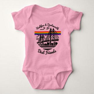 Body Para Bebê Rosa de bebê dos melhores amigos de Halifax