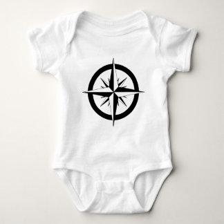 Body Para Bebê Rosa de compasso