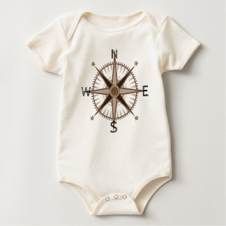 Body Para Bebê Rosa de compasso do aventureiro do bebê