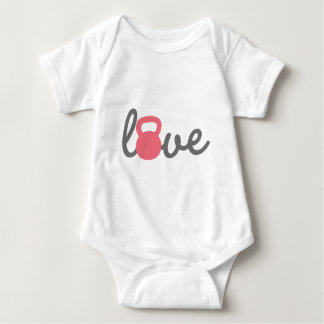 Body Para Bebê Rosa de Kettlebell do amor