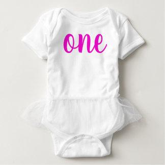 Body Para Bebê Rosa do Bodysuit do bebê da menina do primeiro