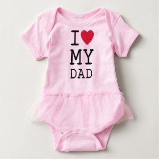 Body Para Bebê Rosa eu amo meu pai por mini irmãos