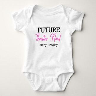 Body Para Bebê Rosa futuro do nerd do teatro personalizado