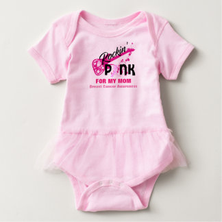 Body Para Bebê Rosa para o tutu do bebê da consciência do cancro