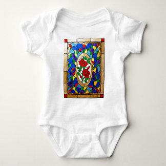 Body Para Bebê Rosas vermelhas do vitral