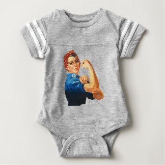 Body Para Bebê Rosie clássico feito sob encomenda o rebitador