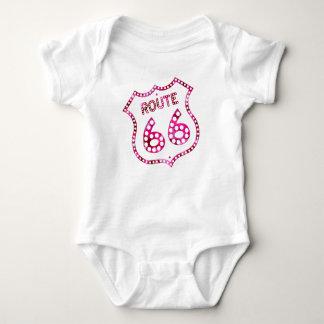 Body Para Bebê Rota cor-de-rosa 66