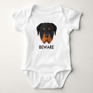 Body Para Bebê Rottweiler Beware