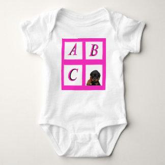 Body Para Bebê rottweiler da placa de janela do ABC