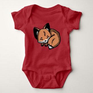 Body Para Bebê Roupa bonito do bebê do Fox do sono