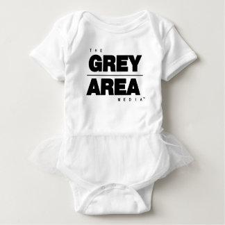 Body Para Bebê Roupa branco preto da área cinzenta