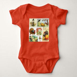 Body Para Bebê Roupa do bebê do vintage da mistura da acção de