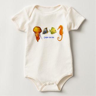 Body Para Bebê Roupa do bebê dos peixes de mar