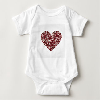 Body Para Bebê Roupa do coração